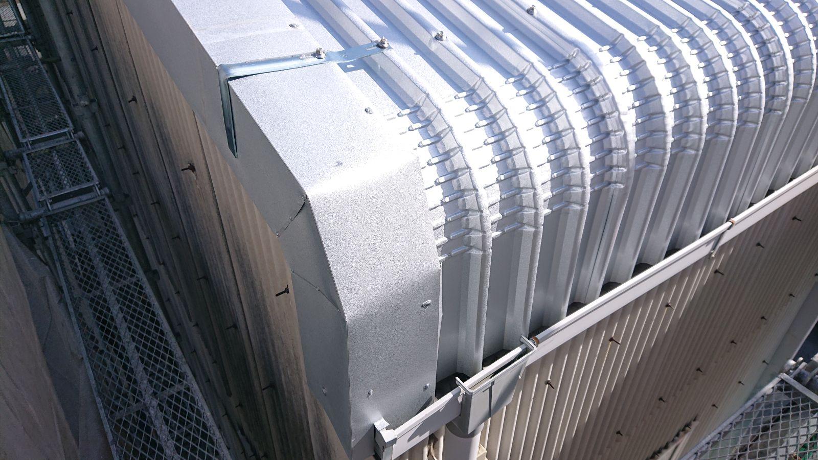 ガルバリウム鋼板ラジアル加工