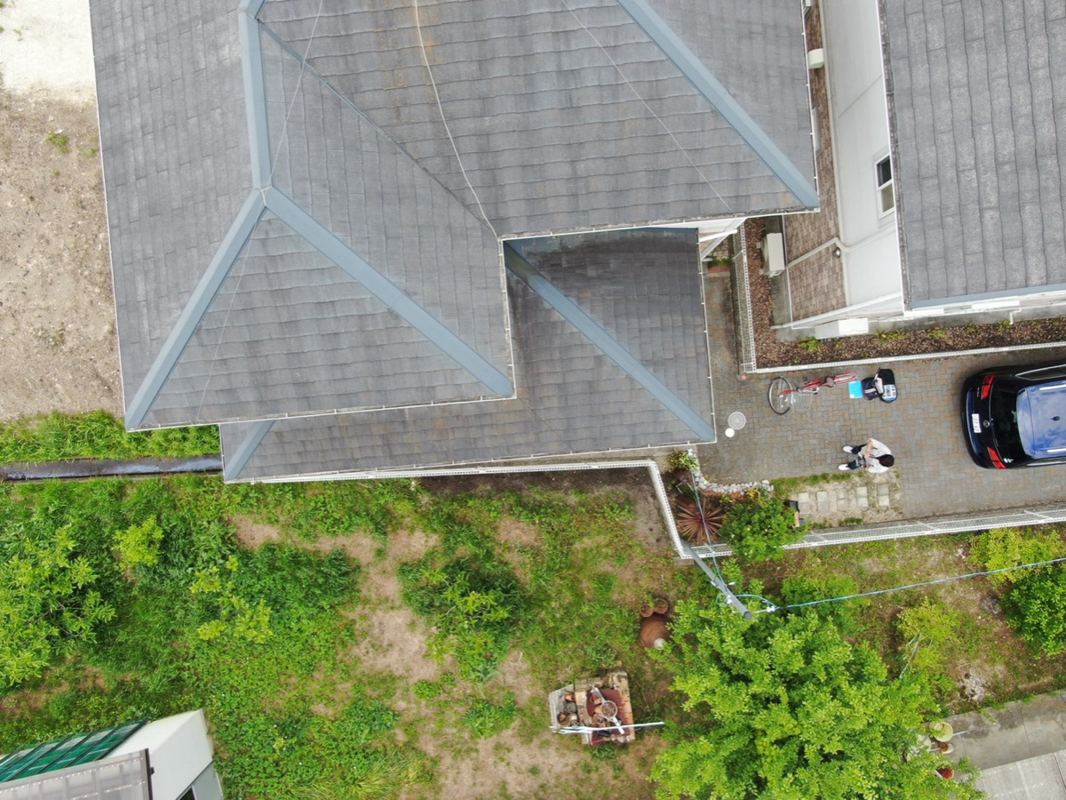 屋根ドローン点検写真