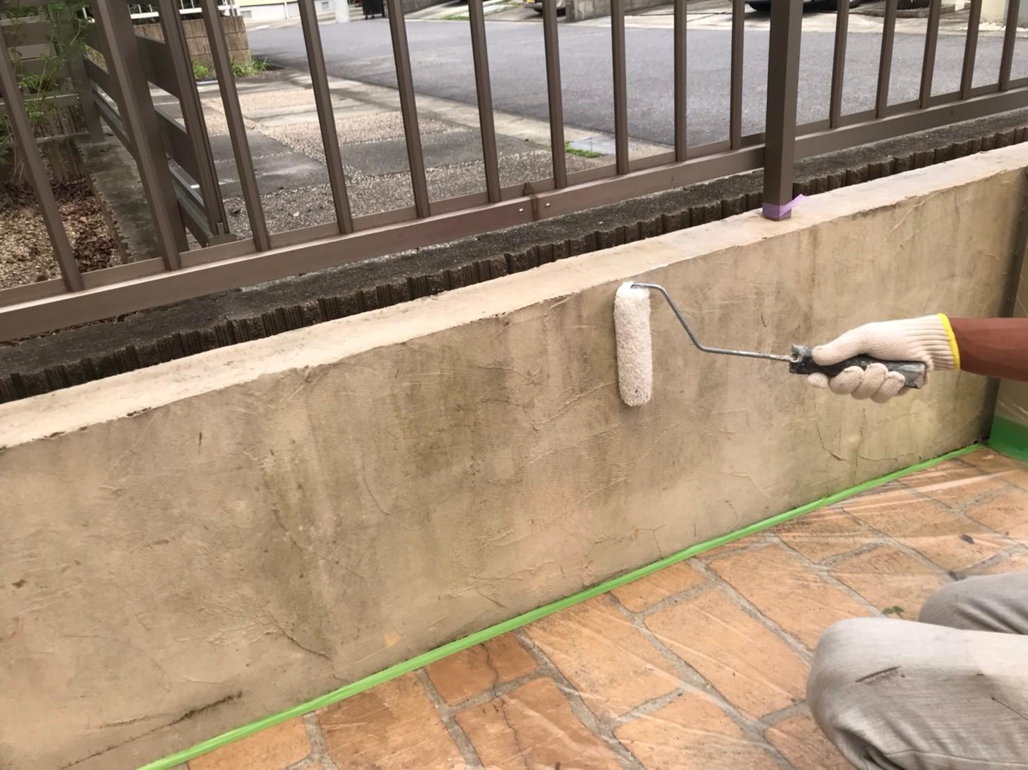 名古屋市西区にてお客様の駐車場内にある 色褪せてしまった外構の美観を整えてきました 名古屋市の外壁 屋根塗装 防水工事は街の外壁塗装 やさん名古屋東店