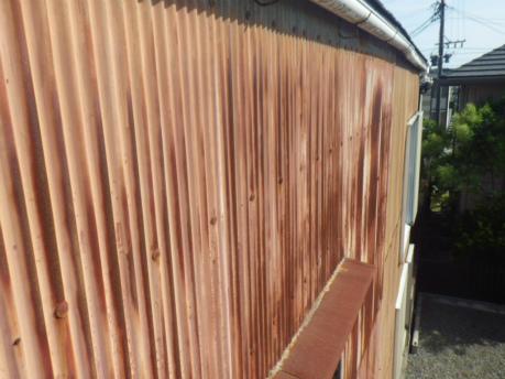 岡崎市でトタン外壁の点検に行ってきました