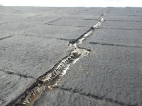 シングル屋根劣化