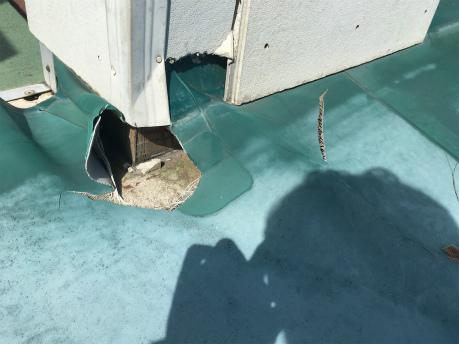 塩ビシート防水劣化