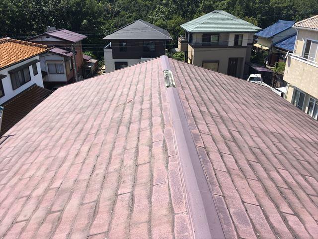 屋根点検 カラーベスト スレート 釘浮き 褪色