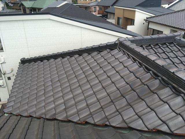 瓦屋根 漆喰 剥離