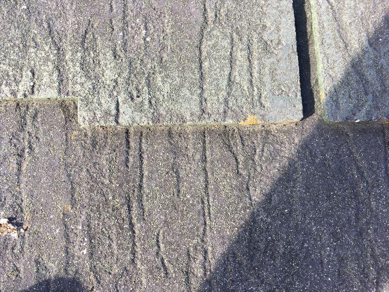 屋根 カラーベスト スレート 褪色 コケ・カビの付着 割れ