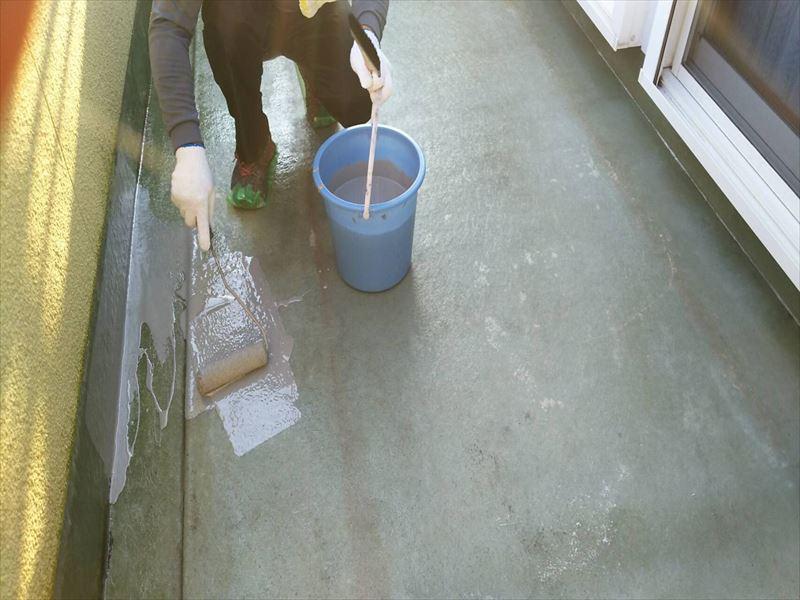 防水工事 FRP防水 トップコート 雨漏り